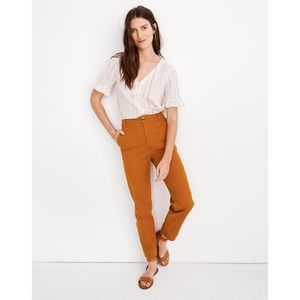 MADEWELL Tapered Leg Canvas Pants 31